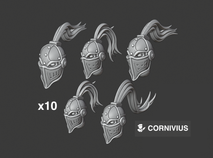 10x Ironclad: Tranquil Coven - Head Swaps 3d printed