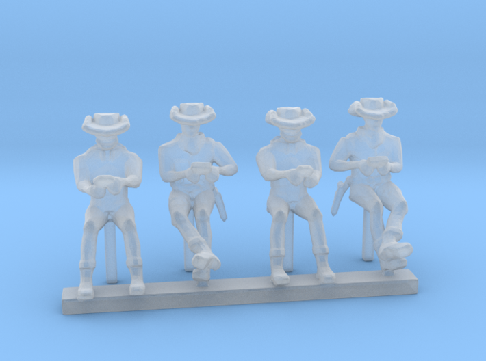 HO Scale Card Players 3d printed This is a render not a picture