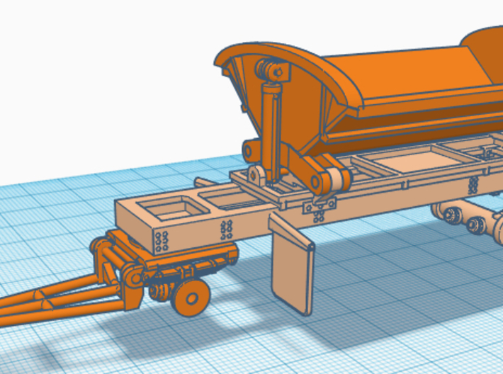 1/87th Smithco type side dump trailer 3d printed