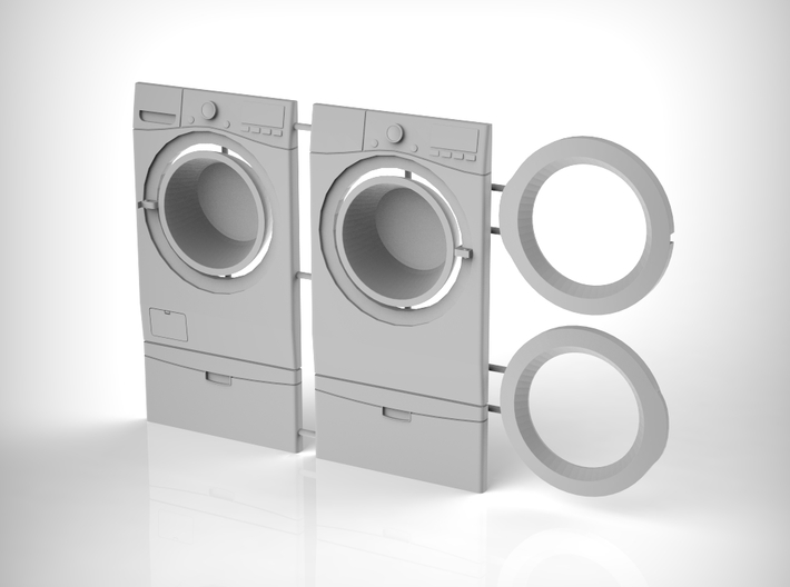 Washer & Dryer Set 01. 1:12 Scale 3d printed