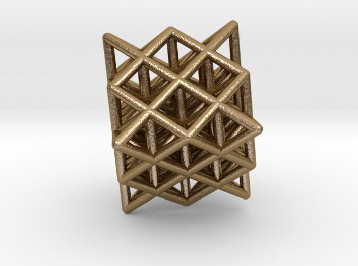64 Tetrahedron Grid Outline Unfilled 3d printed