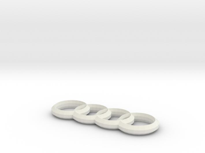 Audi 4 Ringe Anhaenger / Keychains 3d printed