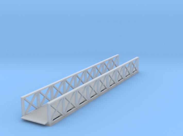 Medford foot bridge Z scale 3d printed Medford foot bridge 75 ft Z scale