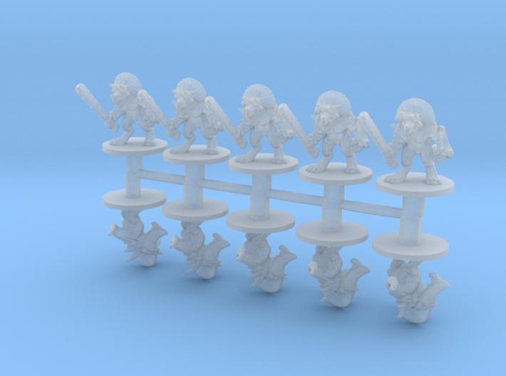 Lizard men Heavy 6mm Infantry Epic fantasy models 3d printed