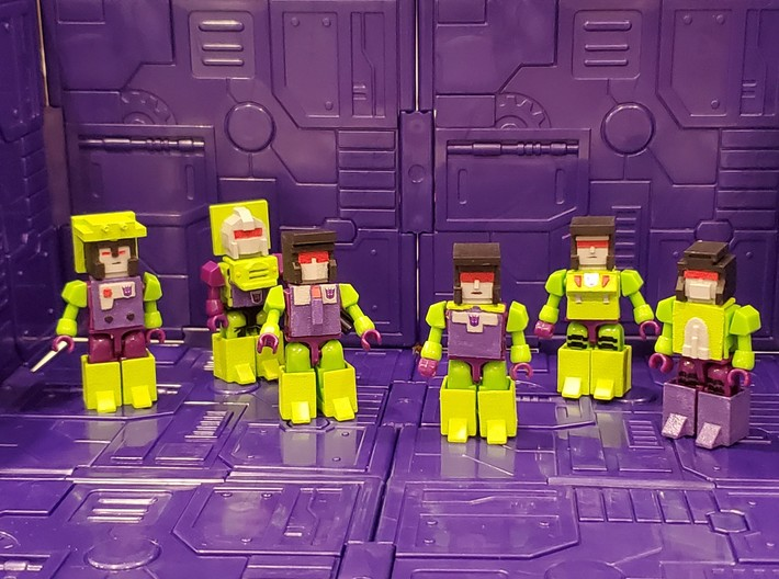 Armor for Constructicon Kreons (Set 1 of 2) 3d printed Finished heads and armor
