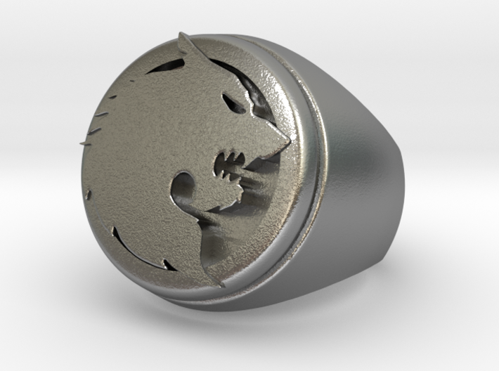 Wolf Ring Size 10 3d printed