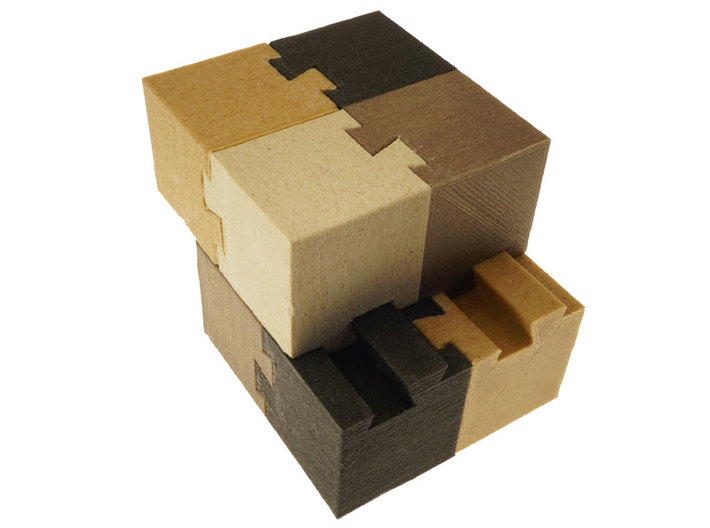 Hermaphroditic Dovetail Cube 3d printed