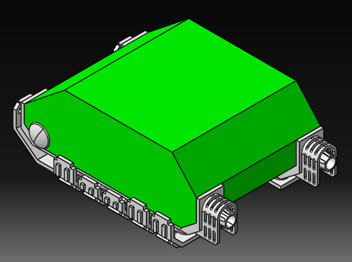 Rhino-Chassis Grav Conversion Kit 3d printed In-context Iso