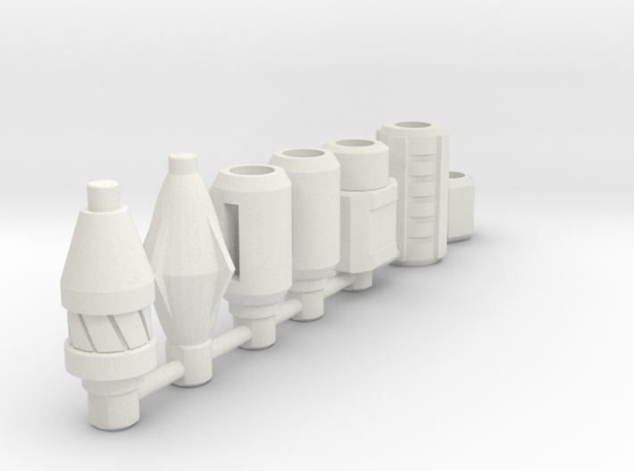 TF Siege 5mm Weapon Barrel Upgrade set 3d printed