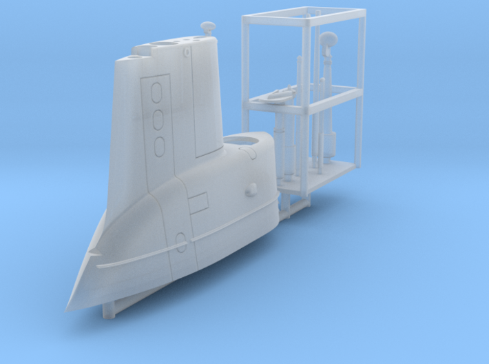 GUPPY Portsmouth Sail, USS Torsk, 1/350 3d printed