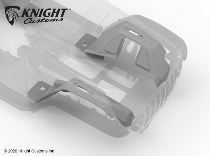 VP20010 VS410 JL Front Inner Fenders 3d printed Parts available in both Grey PA12 and Black PA12.