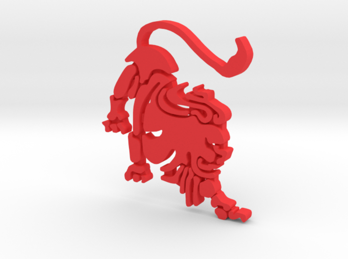 "Lion for ""Keychain Zodiac Lion"" (two color) 3d printed"