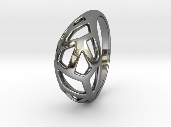 Shell ring lace size 7 3d printed