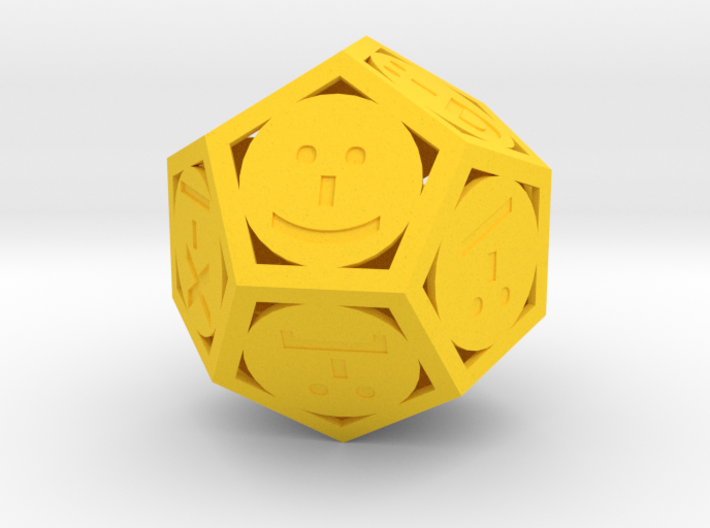 Phantom Tollbooth Dodecahedron - Emoticons 3d printed