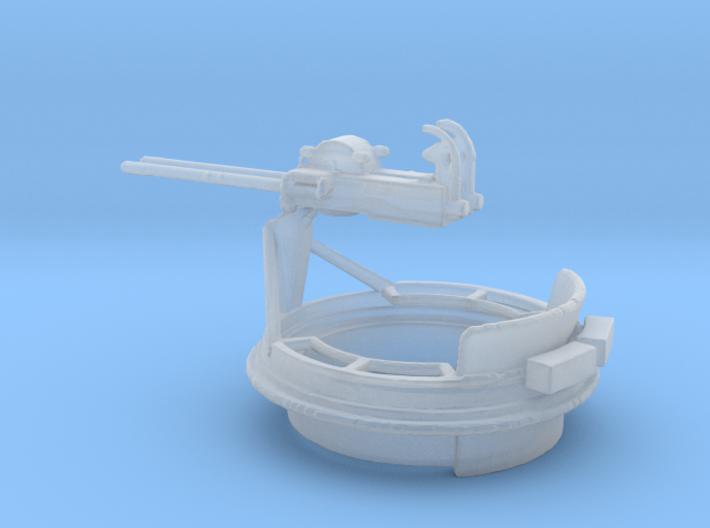 1/48 Scale Mk 17 50 cal Gun Mount 3d printed