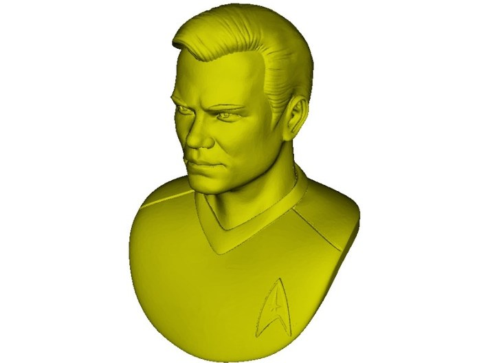 1/9 scale Star Trek Captain Kirk bust 3d printed