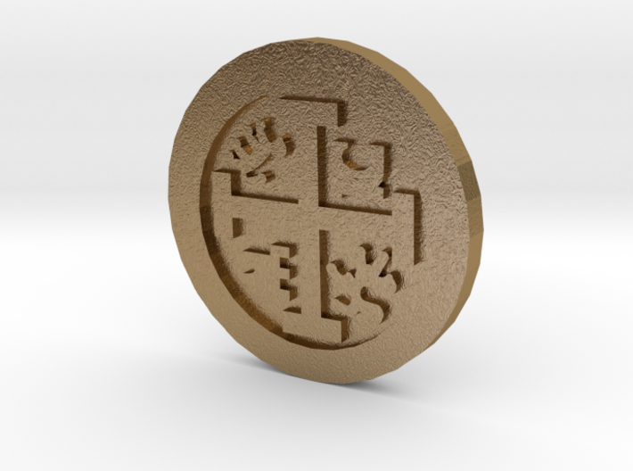 Goonies Style Pirate Coin 3d printed