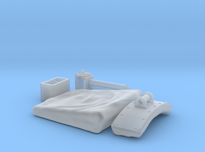 1:16 King/Jagdtiger Funker seat (extended) 3d printed
