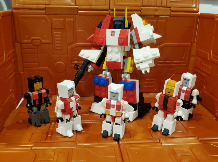 Heads for Aerialbot Kreons (Set 2 of 2) 3d printed Finished heads and armor