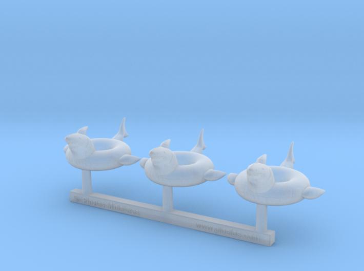 Pool Float 01. 1:87 Scale (HO) 3d printed