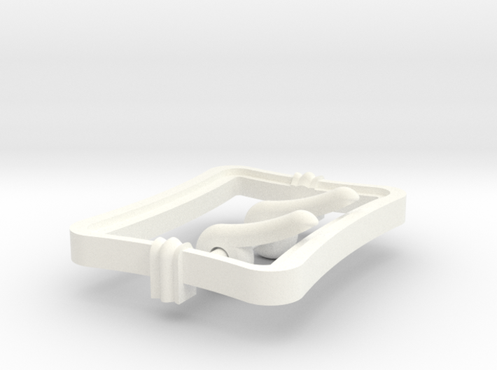 """Pirates 3"""" Buckle - 2 Prong 3d printed"""
