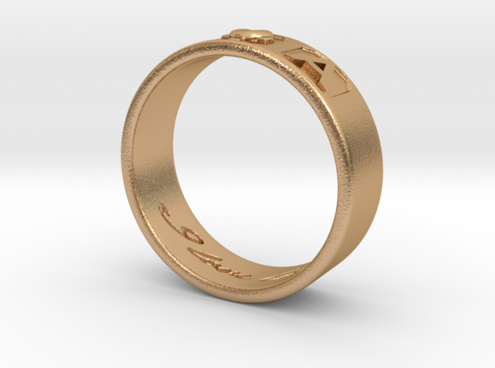 R and A ring Size 9 3d printed