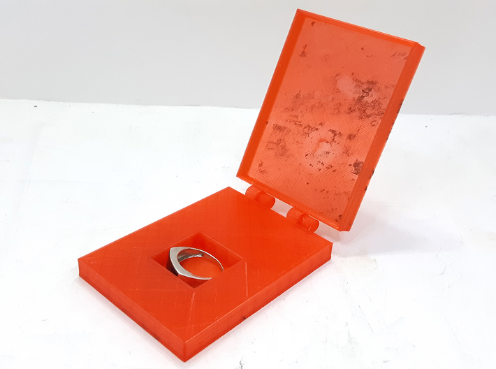 Hinged Engraveable Ring Box For Proposals 3d printed