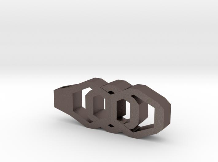 Vertical Industrial Hex Nut Slide Pendant  3d printed