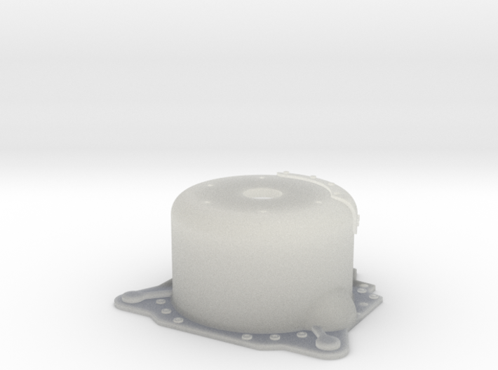 "1/16 Lenco 8.625"" Dp Bellhousing(With Starter Mnt) 3d printed"