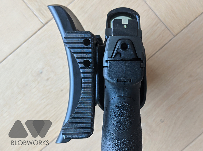 [Holster] BlackHawk Omnivore Release Extension  3d printed