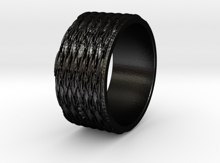 Tread lightly Ring Size 7 3d printed