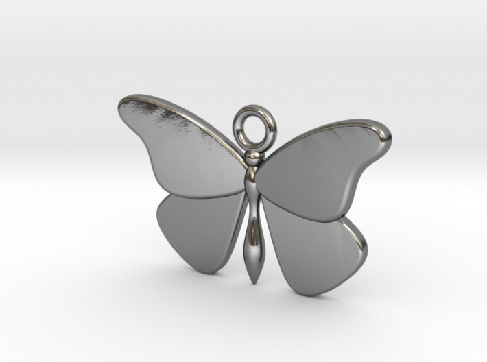 Single Butterfly Pendant (smaller) 3d printed