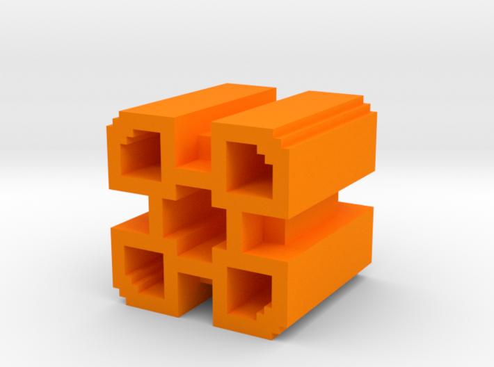 Geometry Dash 2 Demon Icon 3d printed