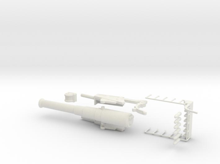 bl 9.2 inch gun 1/76 model kit oo rail gun railway 3d printed
