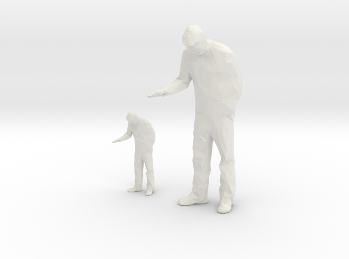 Architectural Man - 1:50 + 1:100 - Looking Down 3d printed