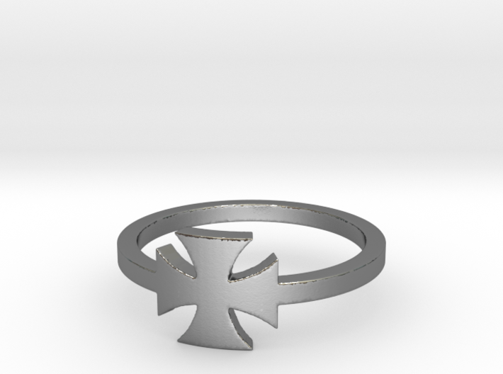 Outlaw Biker Iron Cross (small) Ring Size 14 3d printed