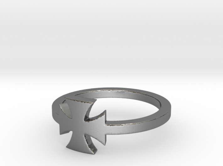 Outlaw Biker Iron Cross (small) Ring Size 10 3d printed