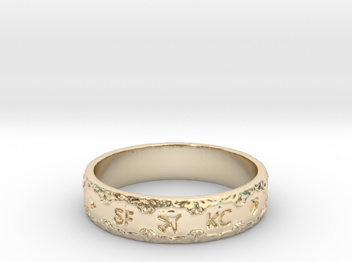The Engagement Ring 3d printed