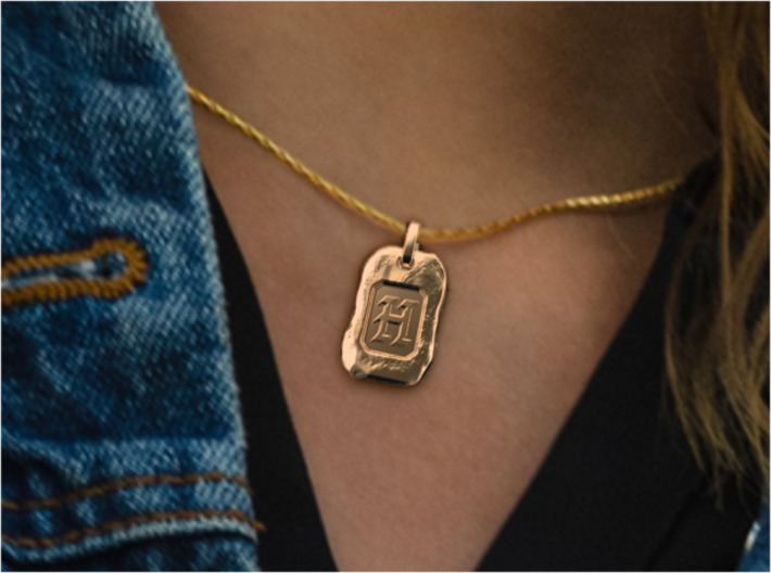 Old Gold Nugget Pendant Y 3d printed Nugget H of A-Z pendants