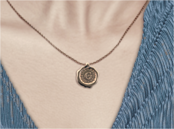 Seal Pendant W 3d printed Seal G of A-Z pendants
