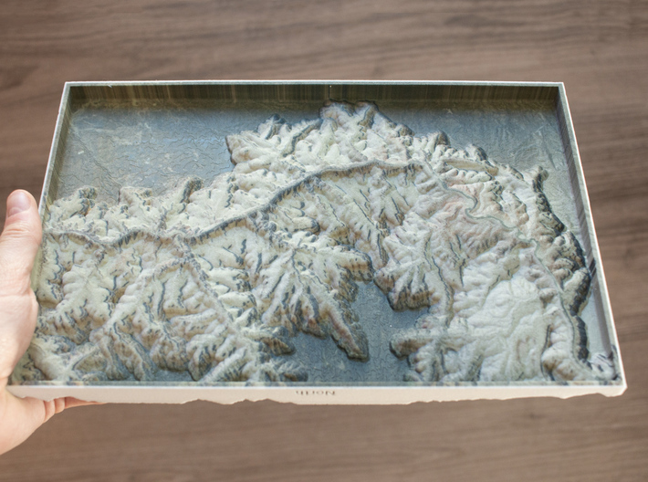 Grand Canyon, Arizona, USA, 1:150000 3d printed