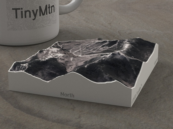 Mt. Mansfield in Winter, Vermont, USA, 1:50000 3d printed