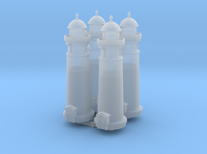 Lighthouse (round) (x4) 1/1000 3d printed