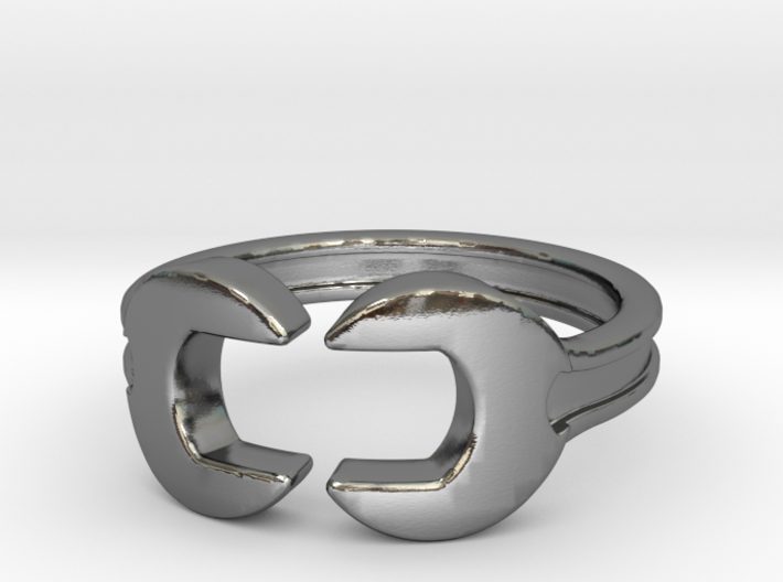 Wrench ring [sizable ring] 3d printed