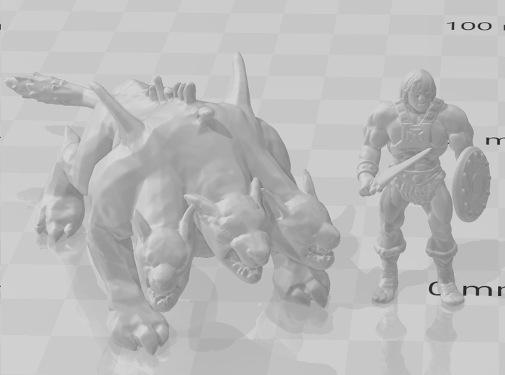 GOW Cerberus miniature model monster fantasy dnd 3d printed