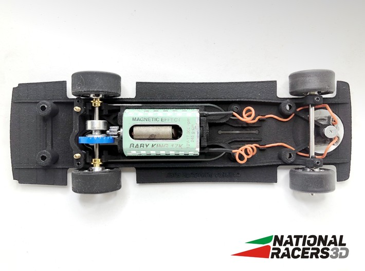 Chassis - Carrera Plymouth Fury (In-AiO) 3d printed