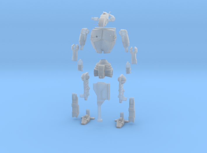 1-72 BattleMech Hatchetman In Parts 3d printed