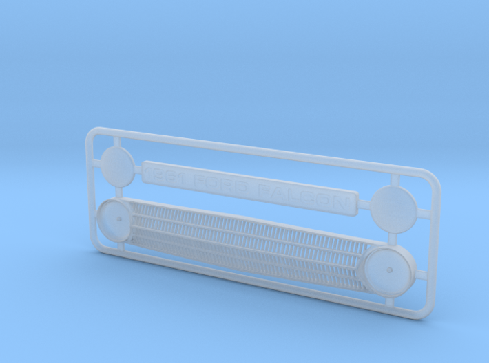 1/25 1961 Ford Falcon Grill w/o directionals 3d printed
