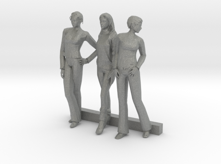 O Scale Women 3 3d printed This is a render not a picture