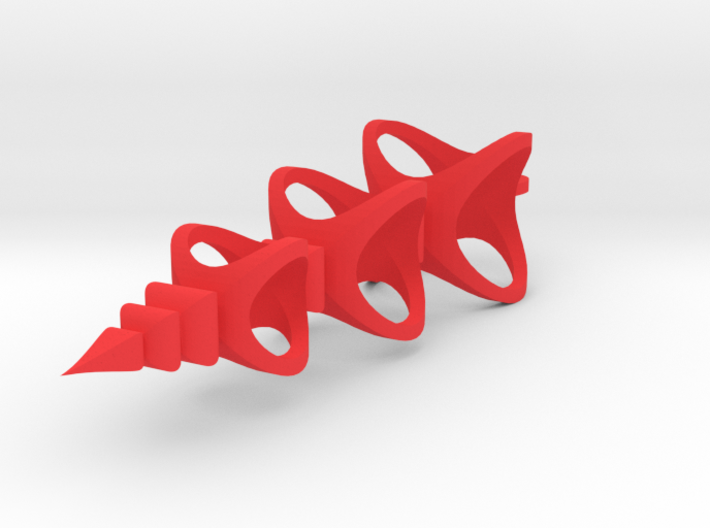 Triple Spheres scrollsaw icicle ornament 3d printed
